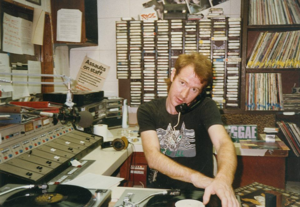 Chris at WPRB in Fall t-shirt
